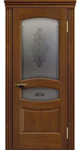 Дверь ЛайнДор Алина 2 американский орех 23 стекло Алина 2 карниз