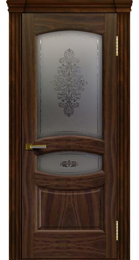 Дверь ЛайнДор Алина 2 американский орех 25 стекло Алина 2 капитель 3 эл.