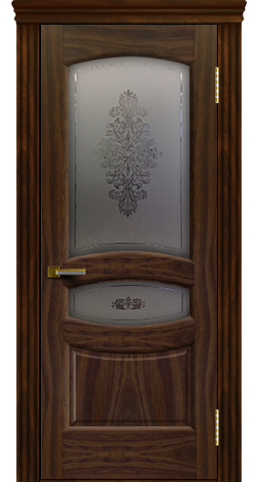 Дверь ЛайнДор Алина 2 американский орех 25 стекло Алина 2 карниз