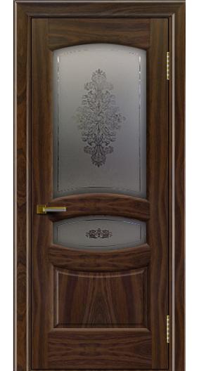 Дверь ЛайнДор Алина 2 американский орех 25 стекло Алина 2
