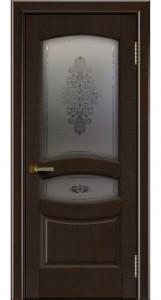 Дверь ЛайнДор Алина 2 венге 12 стекло Алина 2