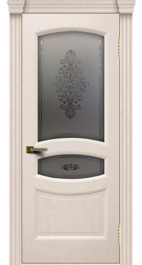 Дверь ЛайнДор Алина 2 жемчуг 27 стекло Алина 2 капитель 3 эл.