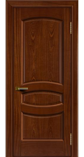 Дверь ЛайнДор Алина 2 красное дерево 10 глухая