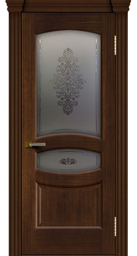 Дверь ЛайнДор Алина 2 орех 2 стекло Алина 2 капитель 3 эл.