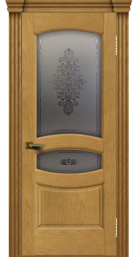 Дверь ЛайнДор Алина 2 ясень 24 стекло Алина 2 капитель 3 эл.