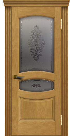 Дверь ЛайнДор Алина 2 ясень 24 стекло Алина 2 карниз