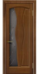 Дверь ЛайнДор Анжелика 2 американский орех 23 стекло Анжелика