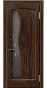 Дверь ЛайнДор Анжелика 2 американский орех 25 стекло Анжелика