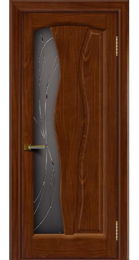 Дверь ЛайнДор Анжелика 2 красное дерево 10 стекло Анжелика