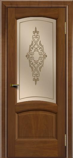 Двери ЛайнДор Анталия 2 американский орех тон 23 стекло Айрис бронза