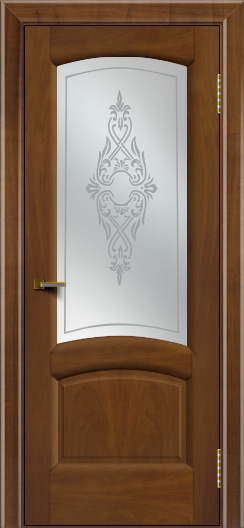 Двери ЛайнДор Анталия 2 американский орех тон 23 стекло Айрис сатин