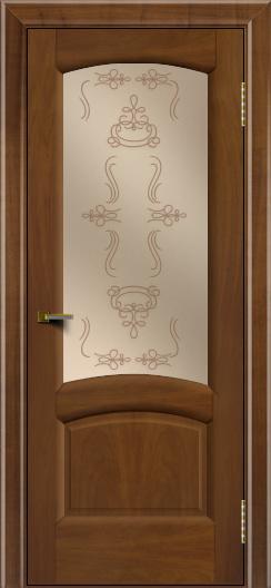 Двери ЛайнДор Анталия 2 американский орех тон 23 стекло Пальмира бронза