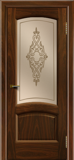 Двери ЛайнДор Анталия 2 американский орех тон 25 стекло Айрис бронза