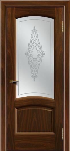 Двери ЛайнДор Анталия 2 американский орех тон 25 стекло Айрис сатин