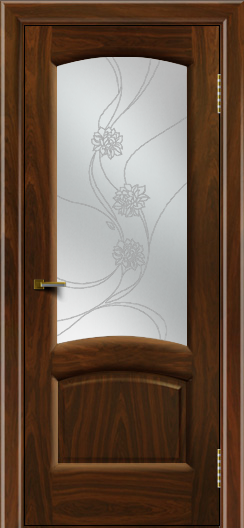 Двери ЛайнДор Анталия 2 американский орех тон 25 стекло Астра наливка