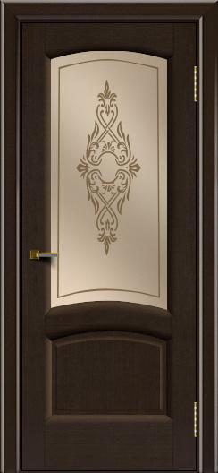 Двери ЛайнДор Анталия 2 венге тон 12 стекло Айрис бронза