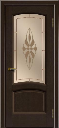 Двери ЛайнДор Анталия 2 венге тон 12 стекло Византия бронза