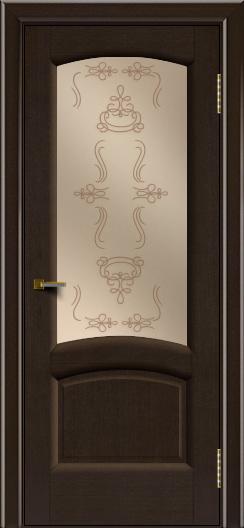 Двери ЛайнДор Анталия 2 венге тон 12 стекло Пальмира бронза