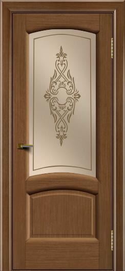 Двери ЛайнДор Анталия 2 дуб тон 5 стекло Айрис бронза