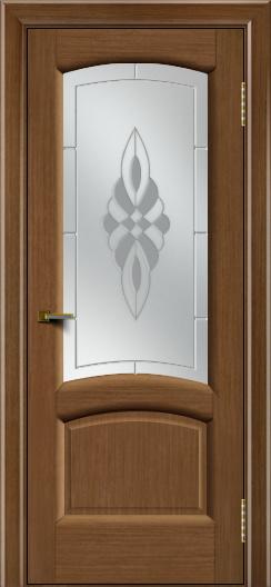 Двери ЛайнДор Анталия 2 дуб тон 5 стекло Византия
