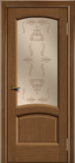 Двери ЛайнДор Анталия 2 дуб тон 5 стекло Пальмира бронза