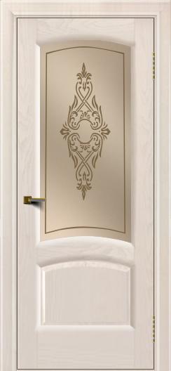 Двери ЛайнДор Анталия 2 жемчуг тон 27 стекло Айрис бронза