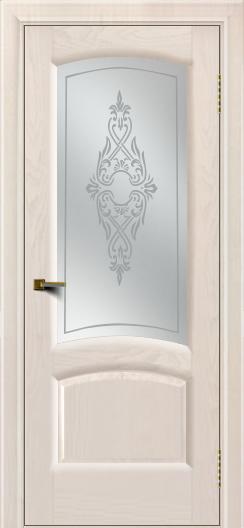 Двери ЛайнДор Анталия 2 жемчуг тон 27 стекло Айрис сатин