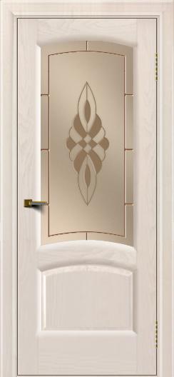 Двери ЛайнДор Анталия 2 жемчуг тон 27 стекло Византия бронза