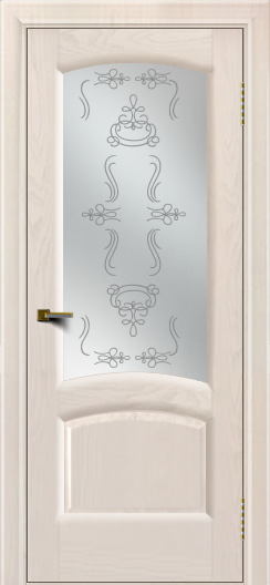 Двери ЛайнДор Анталия 2 жемчуг тон 27 стекло Пальмира сатин
