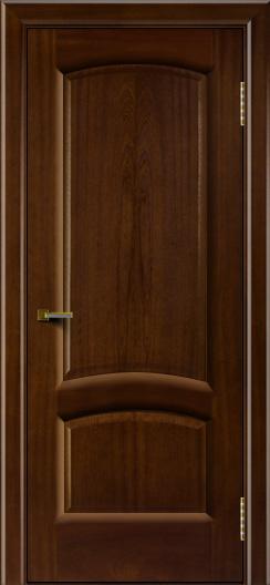Двери ЛайнДор Анталия 2 красное дерево тон 10 глухая