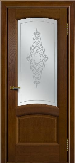 Двери ЛайнДор Анталия 2 тон 30 стекло Айрис сатин