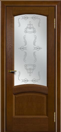 Двери ЛайнДор Анталия 2 тон 30 стекло Пальмира сатин