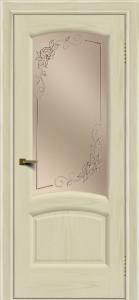 Двери ЛайнДор Анталия 2 тон 34 стекло 3Д Роза бронза