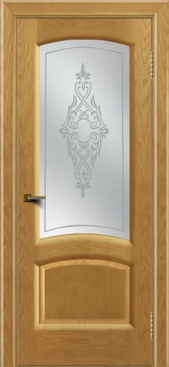 Двери ЛайнДор Анталия 2 ясень тон 24 стекло Айрис сатин