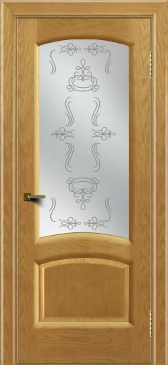 Двери ЛайнДор Анталия 2 ясень тон 24 стекло Пальмира сатин