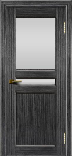 Дверь ЛайнДор Кристина 2 абрикос 22 верхнее белое стекло