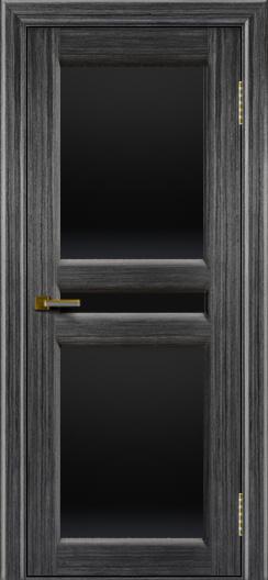 Дверь ЛайнДор Кристина 2 абрикос 22 полное черное стекло