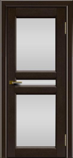 Дверь ЛайнДор Кристина 2 американский венге 12 белое полное стекло