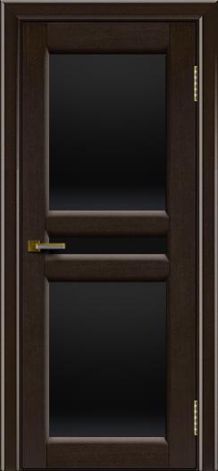 Дверь ЛайнДор Кристина 2 американский венге 12 черное полное стекло