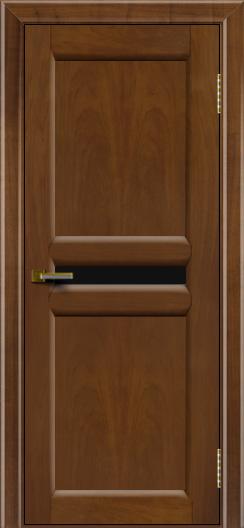 Дверь ЛайнДор Кристина 2 американский орех 23 черное малое стекло