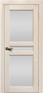 Дверь ЛайнДор Кристина 2 жемчуг Белое полное стекло