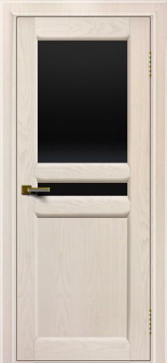 Дверь ЛайнДор Кристина 2 жемчуг Черное верхнее стекло