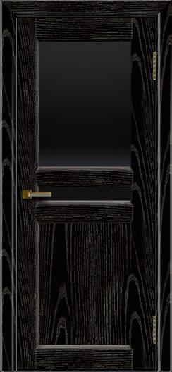Дверь ЛайнДор Кристина 2 черная эмаль тон 26 верхнее черное стекло