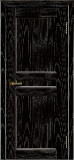 Дверь ЛайнДор Кристина 2 черная эмаль тон 26 глухая