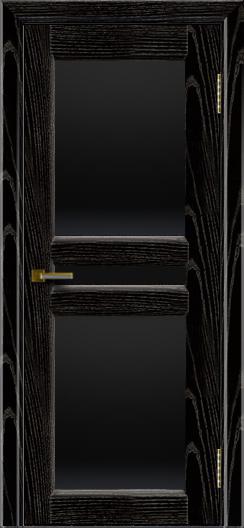 Дверь ЛайнДор Кристина 2 черная эмаль тон 26 полное черное стекло