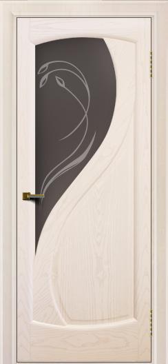 Двери ЛайнДор Новый стиль 2 тон 27 стекло Новый стиль темное