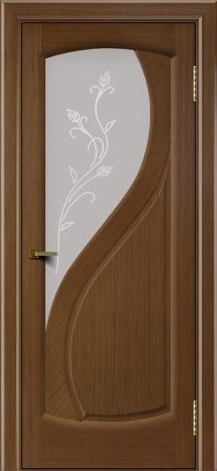 Двери ЛайнДор Новый стиль 2 тон 5 стекло Ирис светлое