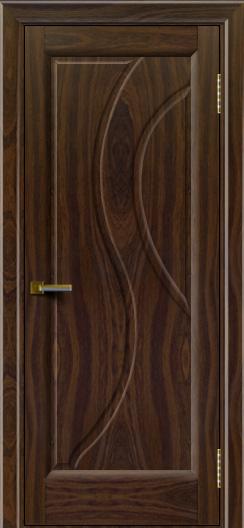 Дверь ЛайнДор Прага Американский орех тон 25глухая