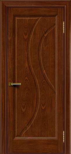 Дверь ЛайнДор Прага 2 Красное дерево 10 глухая