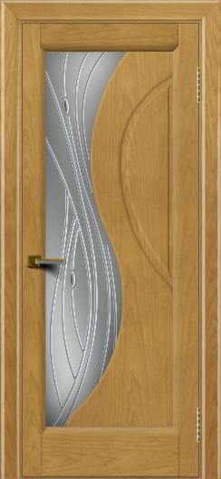 Дверь ЛайнДор Прага 2 Ясень 24 стекло Волна